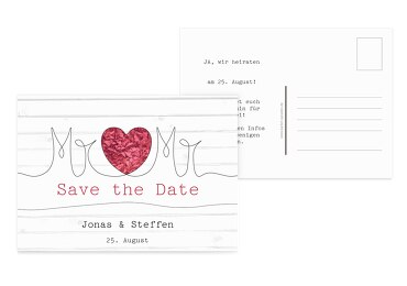 Save-the-Date Mr&Mr 148x105mm 21