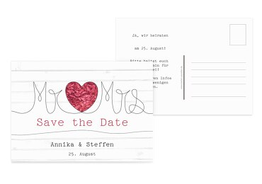 Save-the-Date Mr&Mrs 148x105mm 5000112799