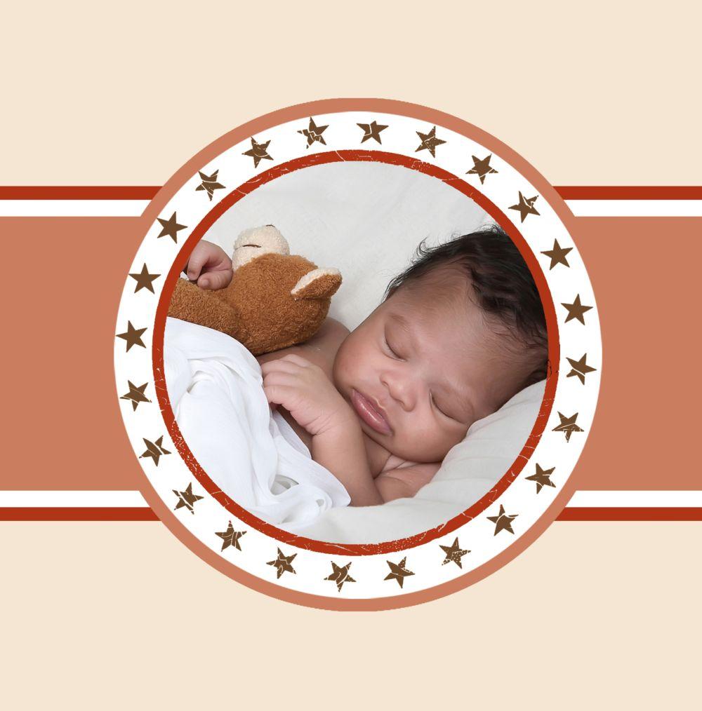 Ansicht 4 - Babykarte Stern