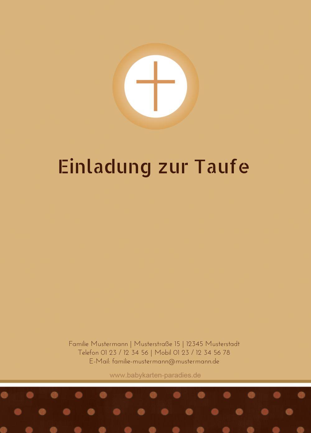 Ansicht 2 - Taufkarte Kreuzhostie