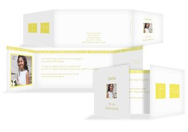 Kommunion Dankeskarte White