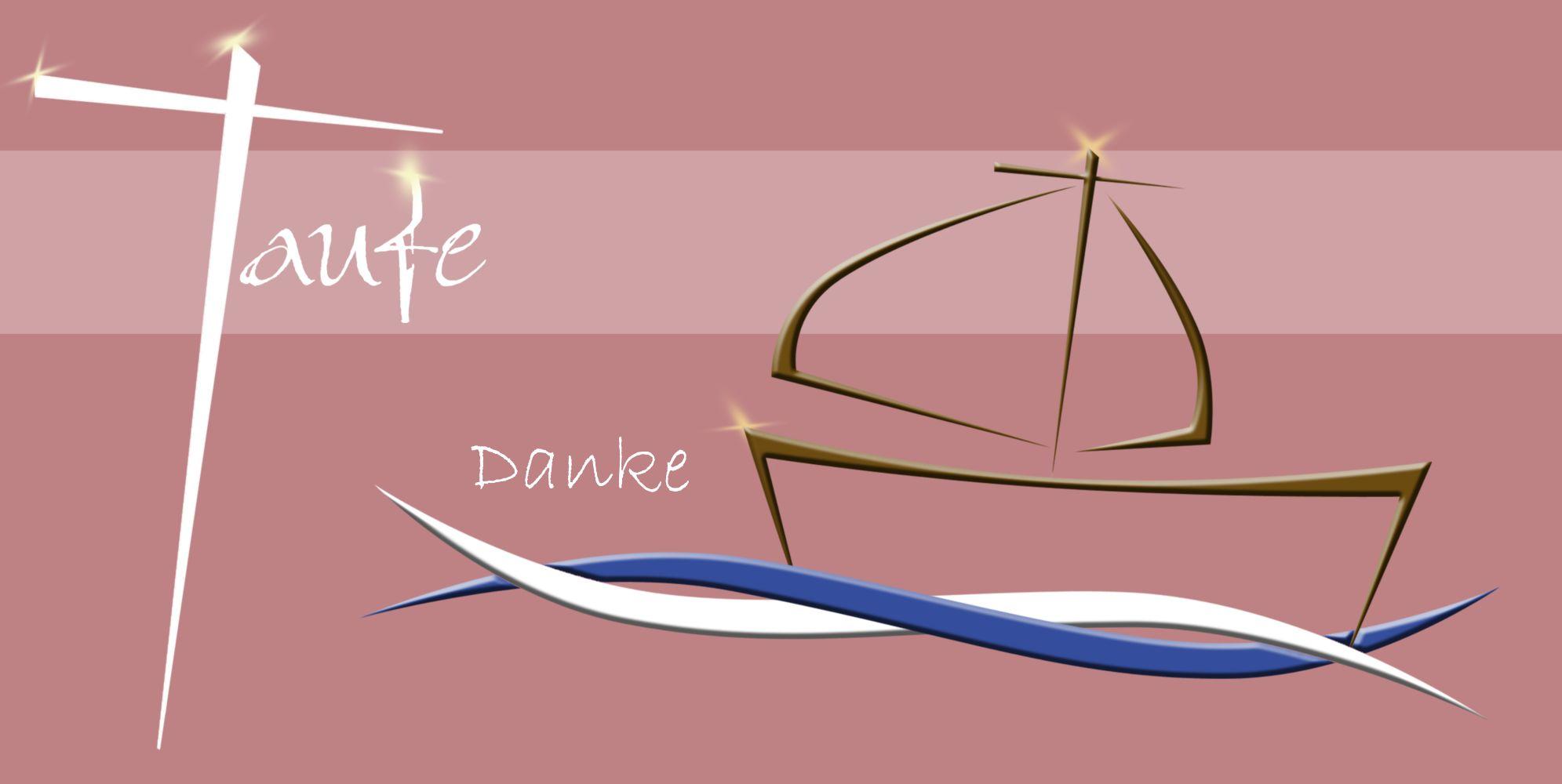 Ansicht 3 - Dankeskarte Schiffchen auf Wellen