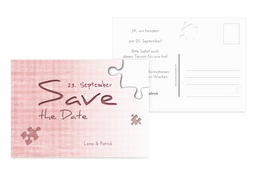 Hochzeit Save-the-Date Puzzle