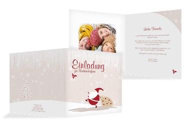 Foto Einladung Weihnachtsmann