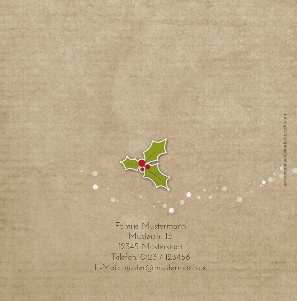 Ansicht 2 - Foto Grußkarte Weihnachtskranz
