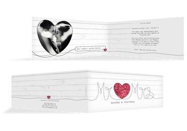 Hochzeit Dankeskarte Mr&Mrs