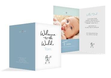 Baby Dankeskarte Welcome