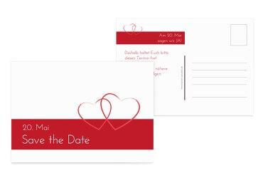 Hochzeit Save-the-Date Herzensband