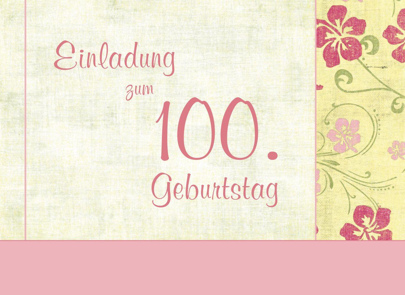 Ansicht 3 - Einladung zum Geburtstag Foto Hibiskus 100