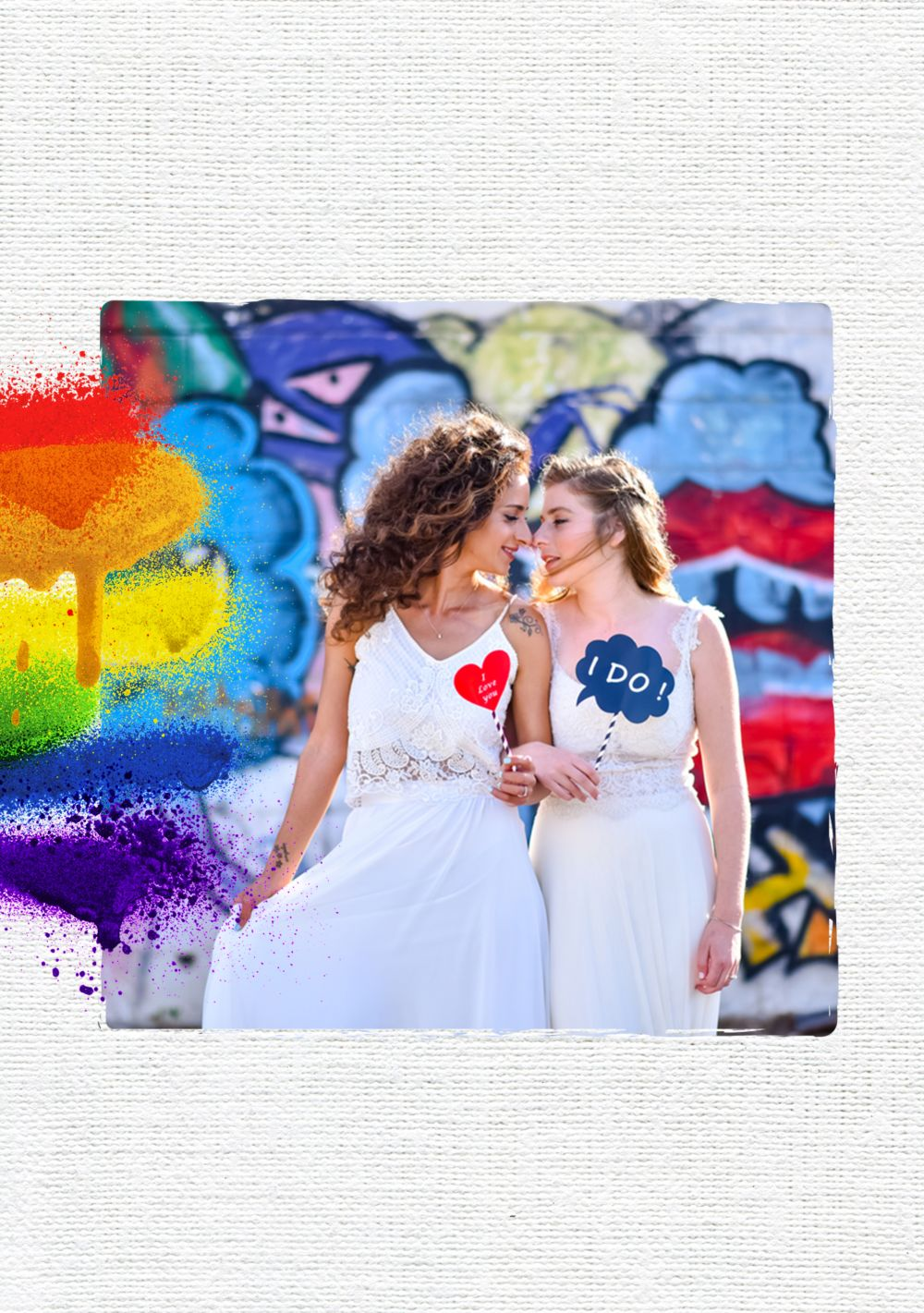 Ansicht 4 - Hochzeit Dankeskarte Regenbogenliebe