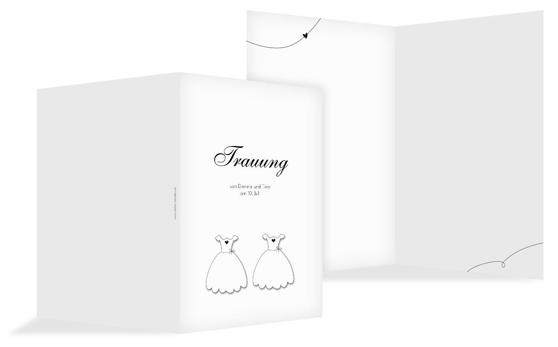 Hochzeit Kirchenheft Umschlag dresses