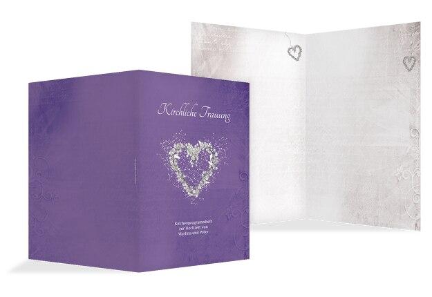 Kirchenheft Umschlag glamour heart
