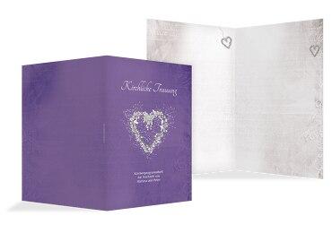 Hochzeit Kirchenheft Umschlag glamour heart