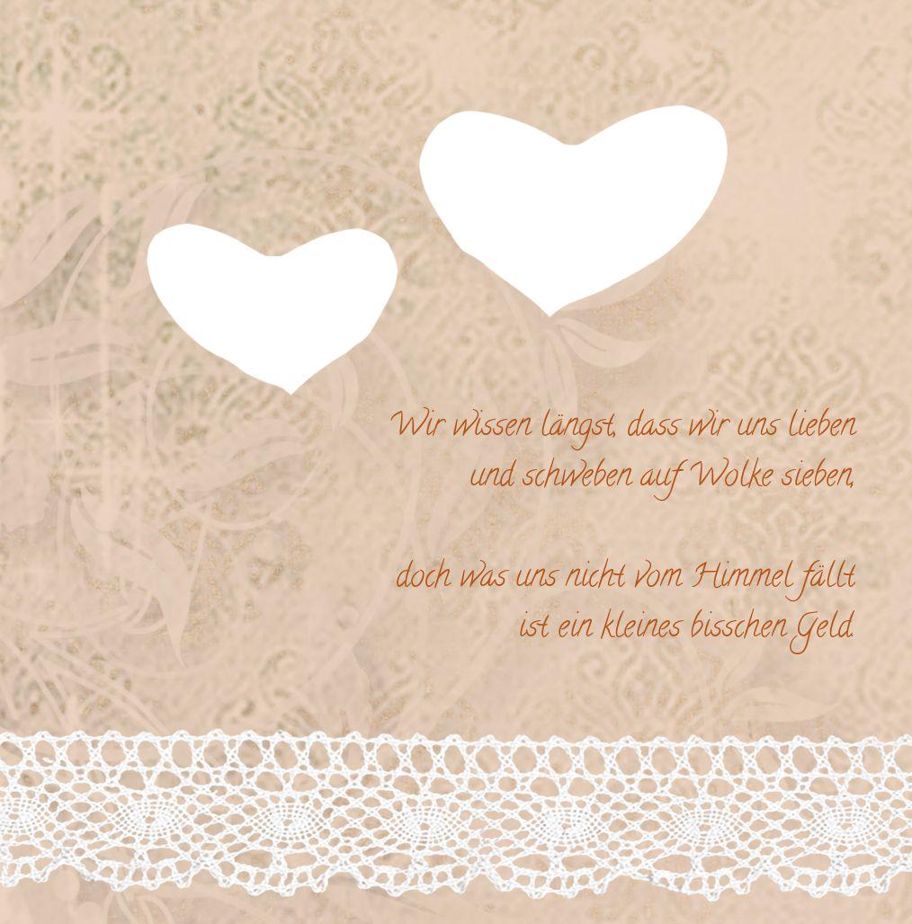 Ansicht 5 - Kontur Einladung Herzband Blumen