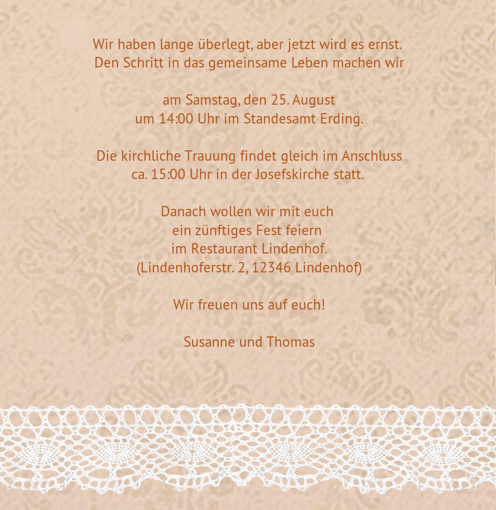Ansicht 6 - Kontur Einladung Herzband Blumen
