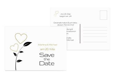 Save-the-Date Herzblume