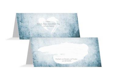 Hochzeit Tischkarte Du + Ich = Liebe