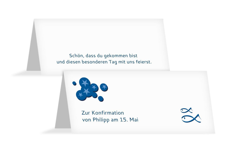 Konfirmation Tischkarte Star
