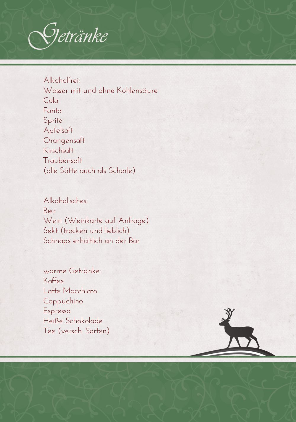Ansicht 4 - Menükarte classic Elch