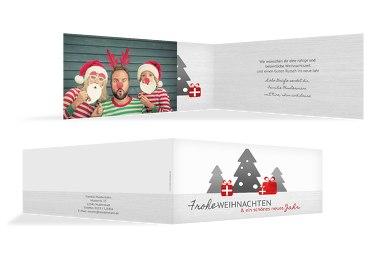 Foto Weihnachtsgrußkarte Geschenkebaum