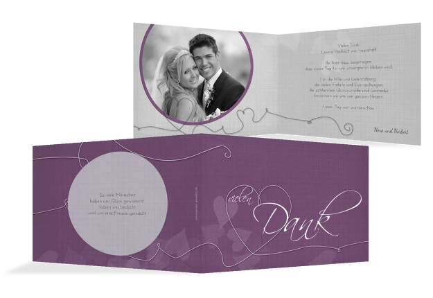 Hochzeit Dankeskarte ewiges Band