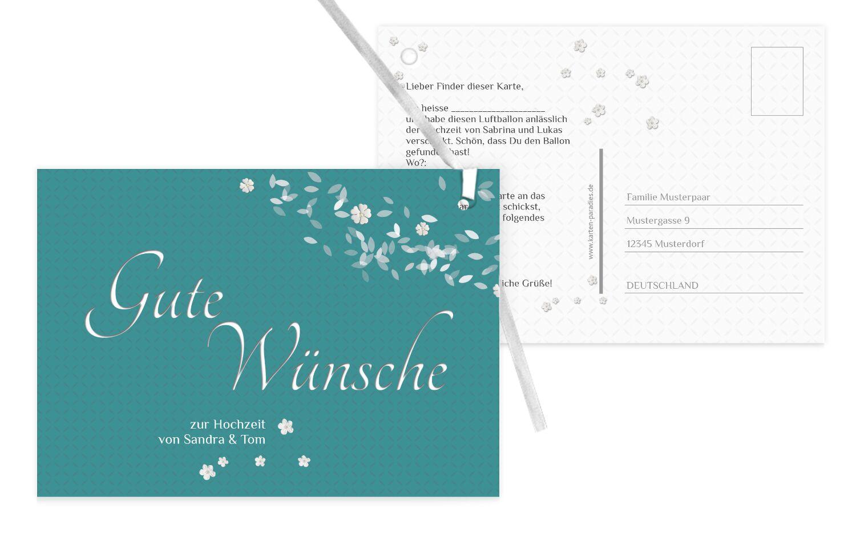 Hochzeit Ballonkarte romantic flower