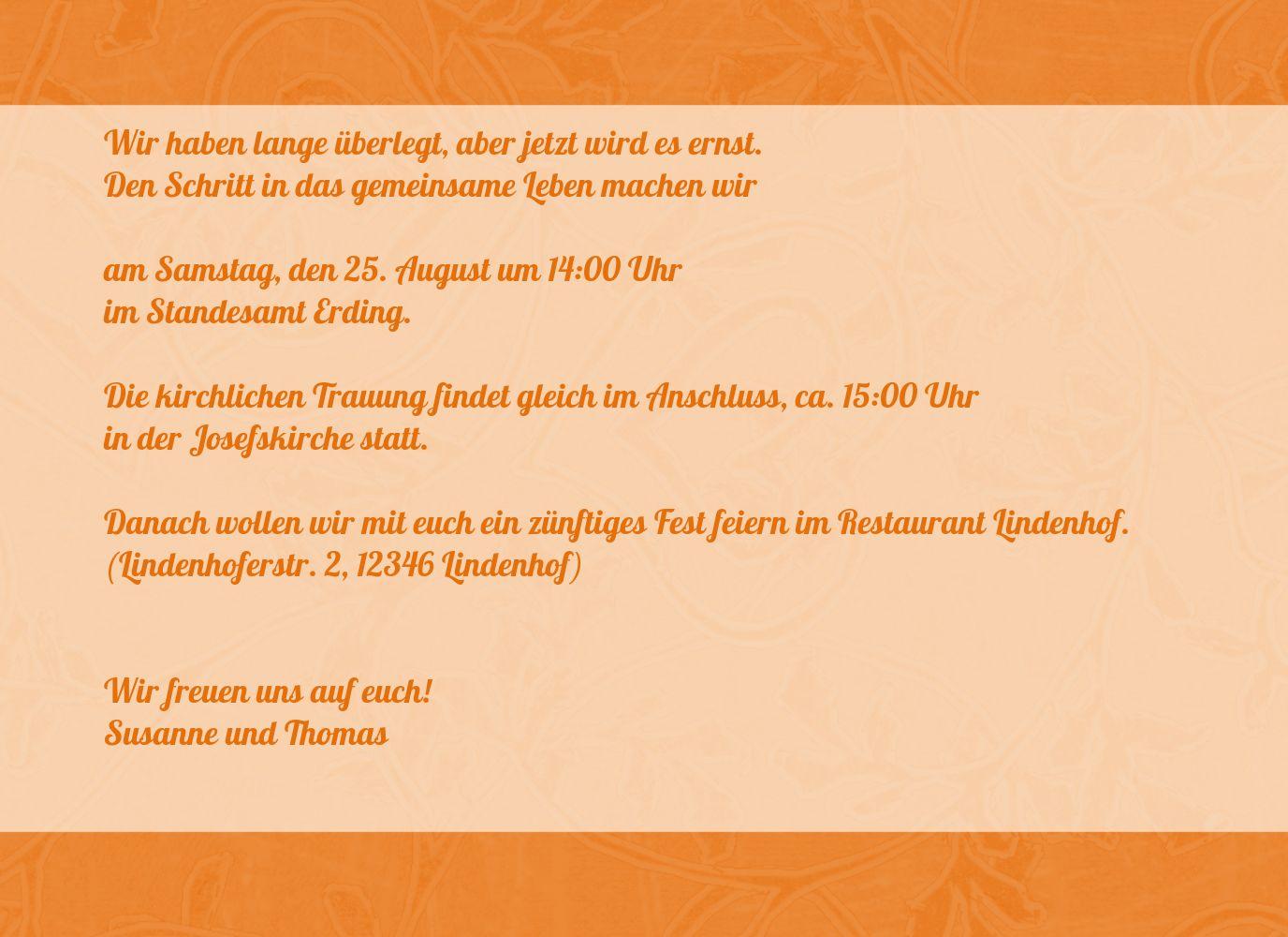 Ansicht 5 - Hochzeit Einladung Hochzeitsglück