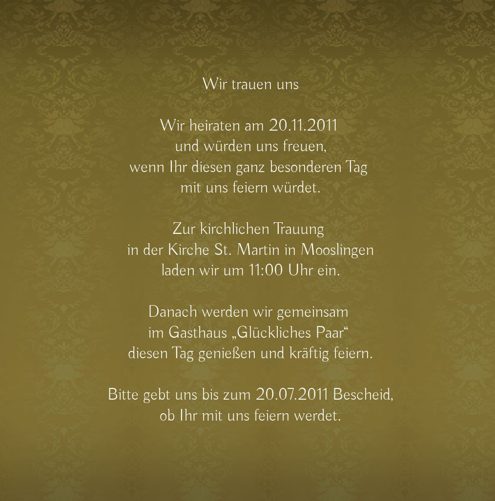Ansicht 5 - Hochzeit Einladung Eheversprechen