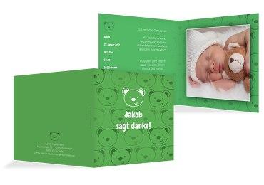 Baby Dankeskarte Bärchen