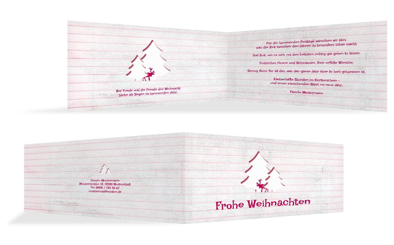 Grußkarte Elchenwald