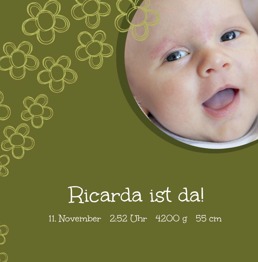 Ansicht 3 - Babykarte Blüten