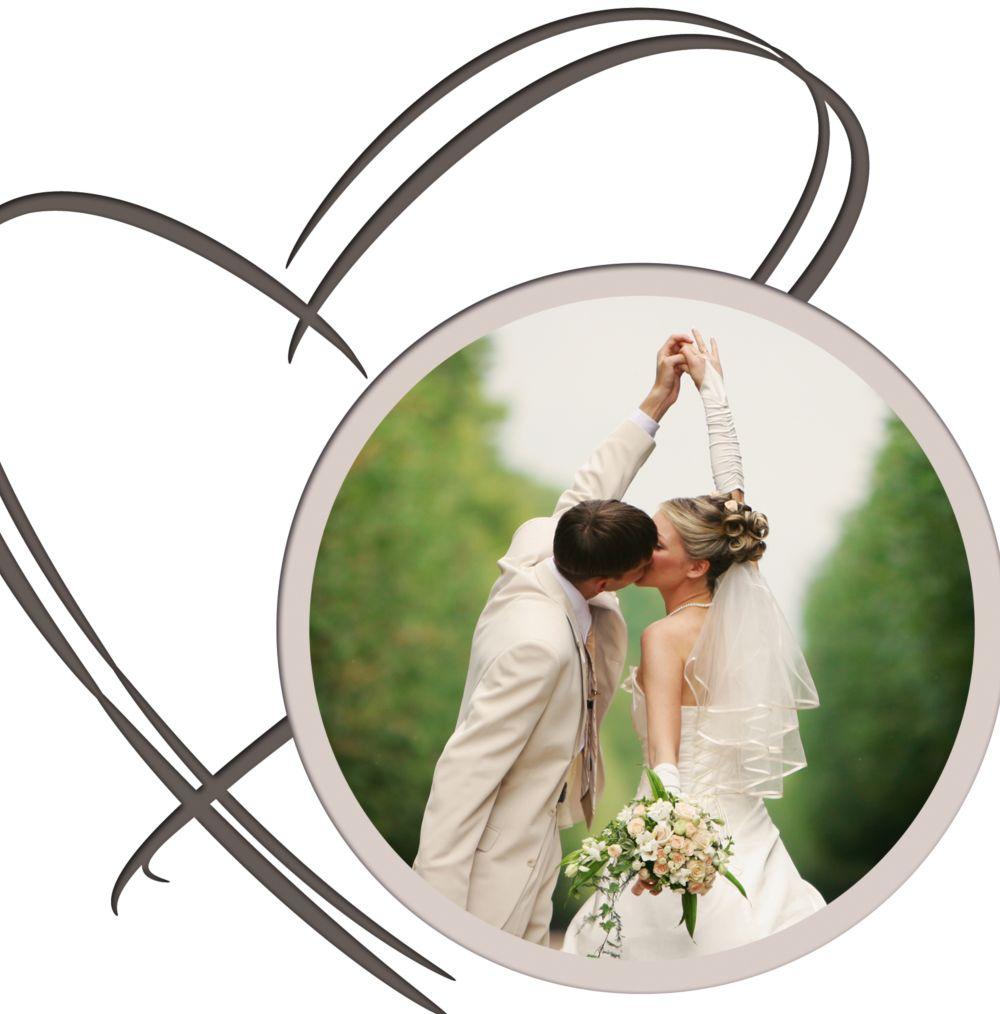 Ansicht 4 - Hochzeit Einladungskarte Doppelherz