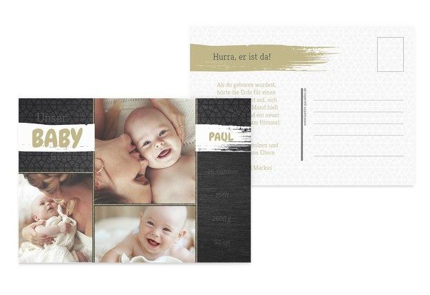 Babykarte Schiefer