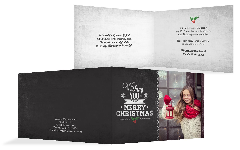 Foto Einladung Merry Christmas