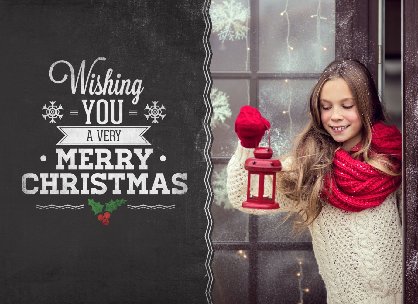 Ansicht 3 - Foto Einladung Merry Christmas