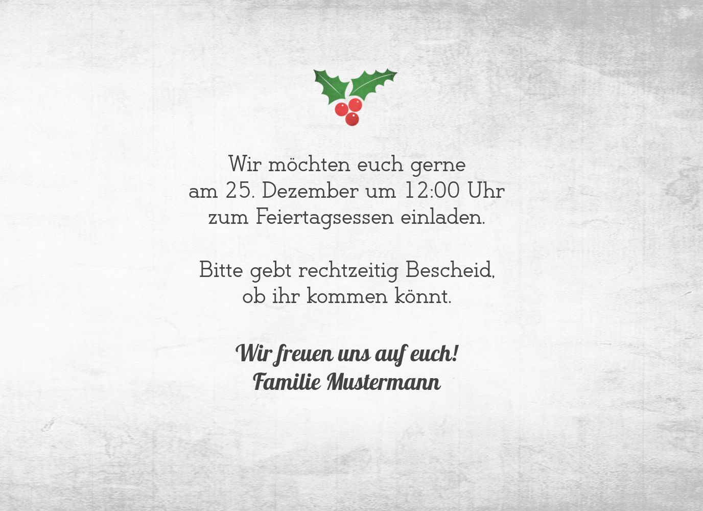 Ansicht 5 - Foto Einladung Merry Christmas