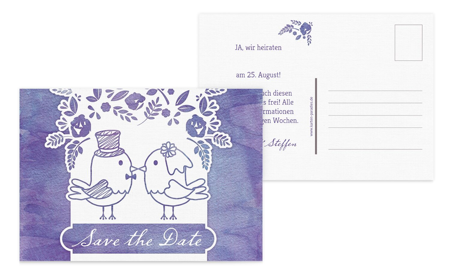 Save-the-Date Vogelpaar