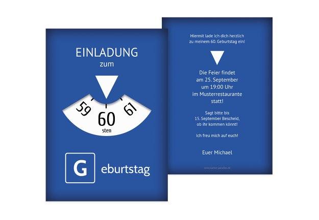 Einladungskarten Zum 60 Geburtstag Karten Paradiesde