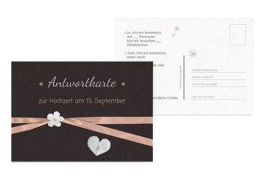 Hochzeit Antwortkarte sanfte Blüte