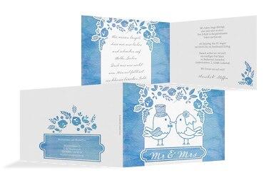 Hochzeit Einladung Vogelpaar