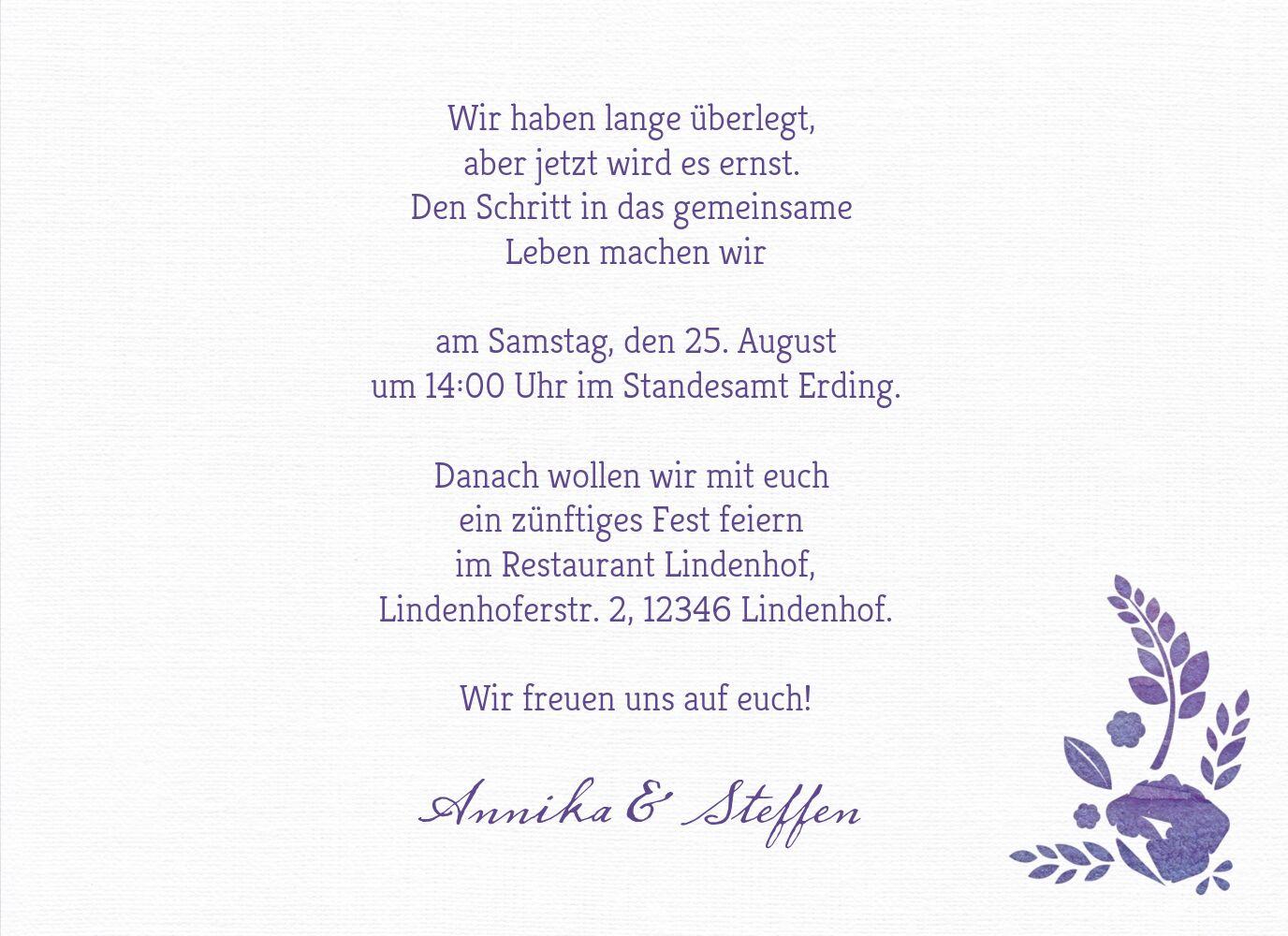 Ansicht 5 - Hochzeit Einladung Vogelpaar