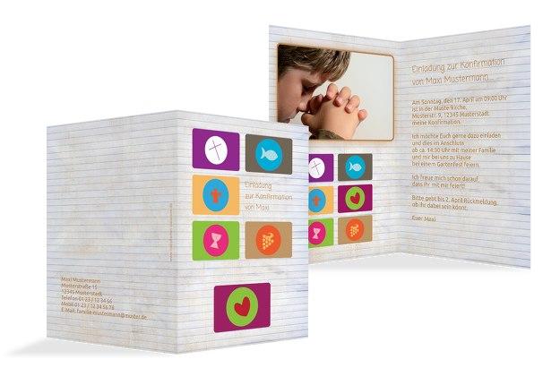 Einladungskarten Konfirmation Bestellen Einladungskarten: Einladungskarte Zur Konfirmation Buttons Selbst Gestalten