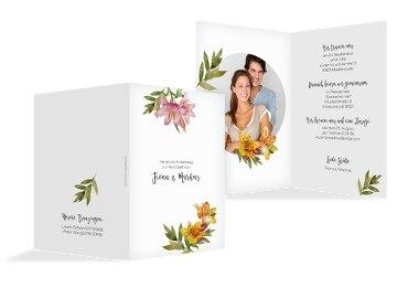Hochzeit Einladung Blumendeko