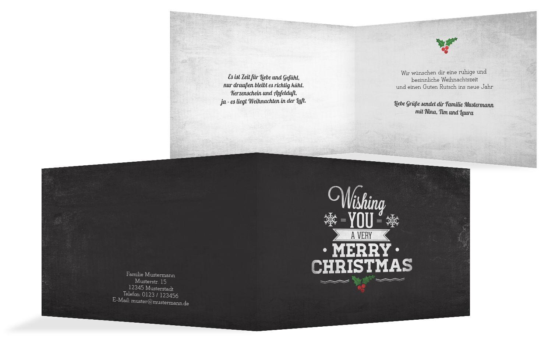 Grußkarte Merry Christmas