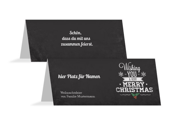 Tischkarte Merry Christmas