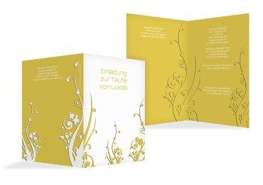 Taufkarte Florale Schnörkel 2