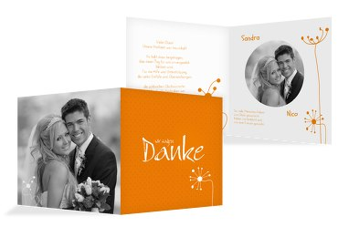 Hochzeit Dankeskarte abstrakte Blumen