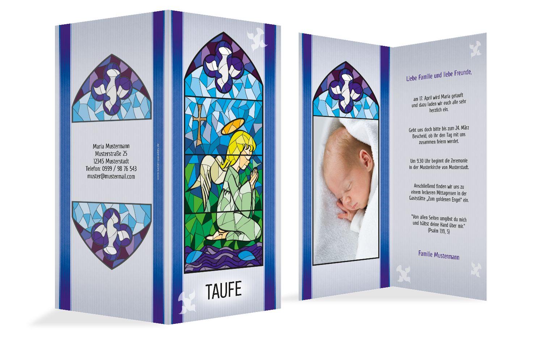 Einladungskarte Kirchenfenster