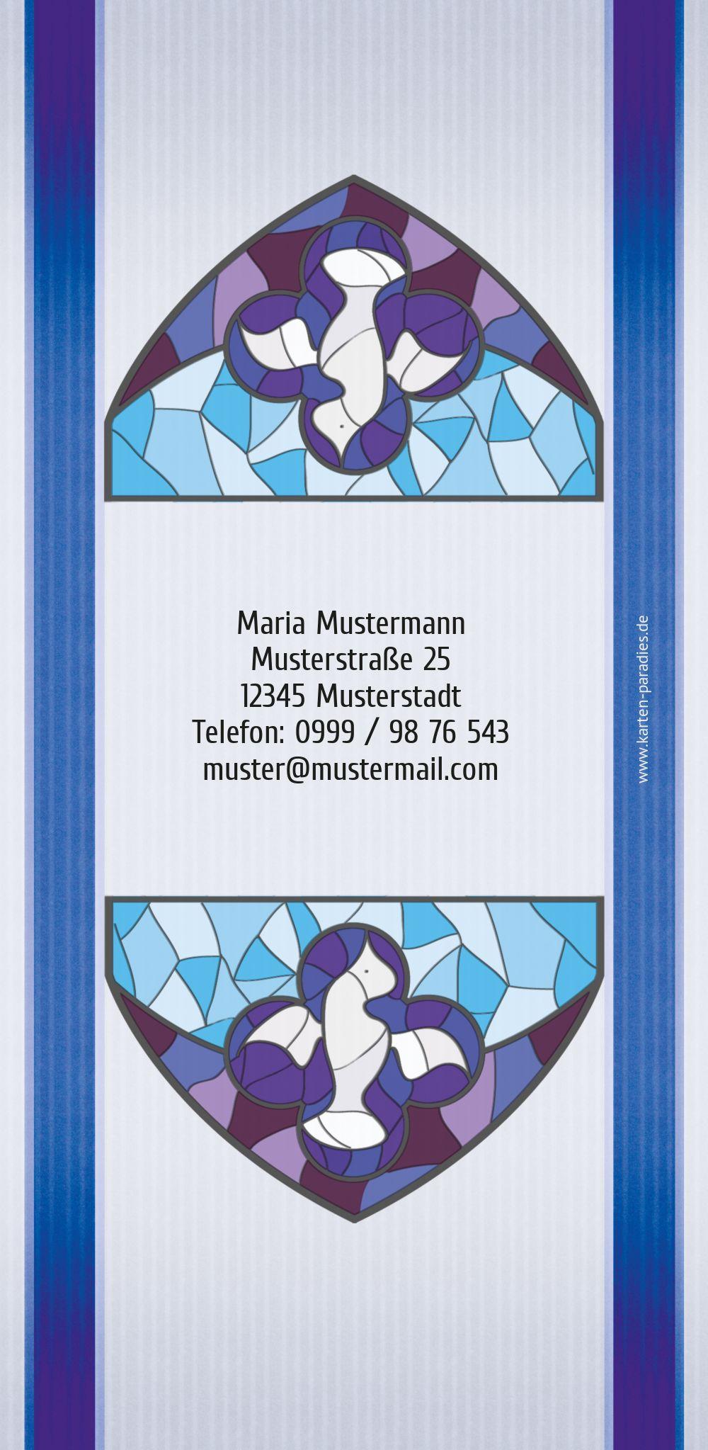 Ansicht 2 - Einladungskarte Kirchenfenster