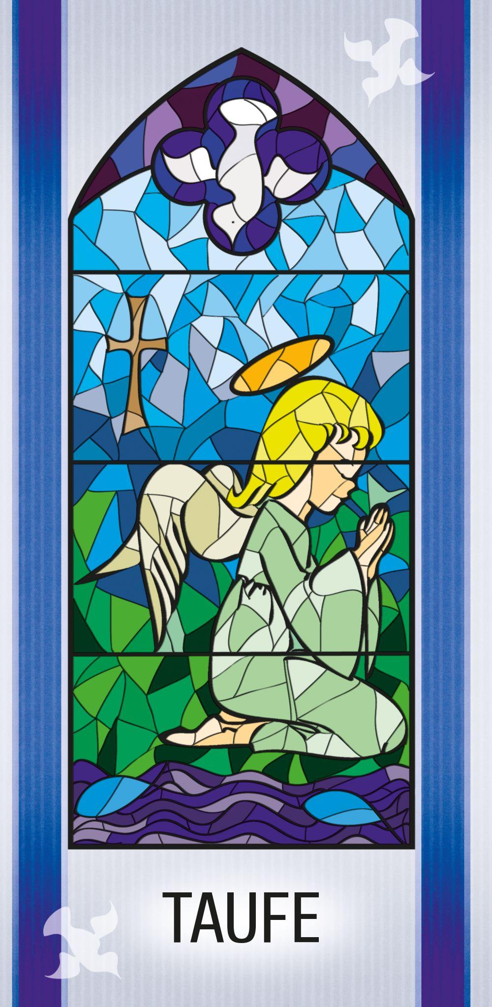 Ansicht 3 - Einladungskarte Kirchenfenster